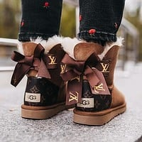 UGG x LV Bow Boot Snow Boots