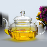 Practical Resistant Bottle Cup Glass Teapot with Infuser Tea Leaf Herbal Coffee Home Office 350ML Drop Shipping