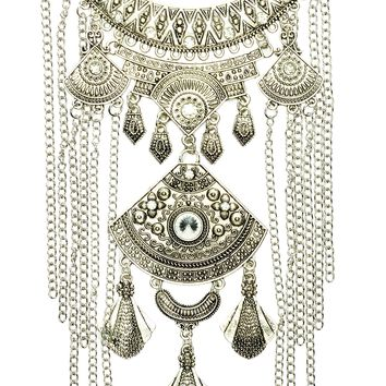 Kristen Statement Necklace - Silver