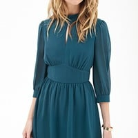 Peasant-Inspired Woven Dress
