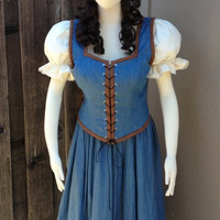 Belle Once Upon A Time Peasant Dress A Inspired Costume Adult Screen Quality Emilie de Ravin