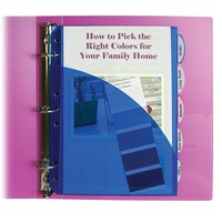 C-Line Mini Size 5-Tab Poly Index Dividers with Pockets, for 5.5 x 8.5, 6 x 9 and 8.5 x 11 Binders, Assorted Colors, One 5-Tab Set (03750)