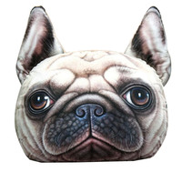 French Bulldog Face Cushion