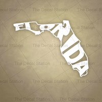 Florida Vinyl Decal Sticker for Car Truck Auto. Word Art . US State Pride.