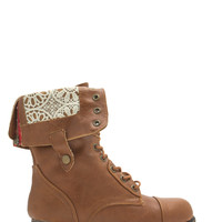 Foldover Lace-Up Combat Boots GoJane.com