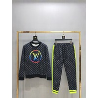 LV Louis Vuitton Men's Casual Tracksuit Long Sleeve Full-Zip Running Jogging Sports Jacket and Pants Sweater Hoodies T- shirt Jacket Coat