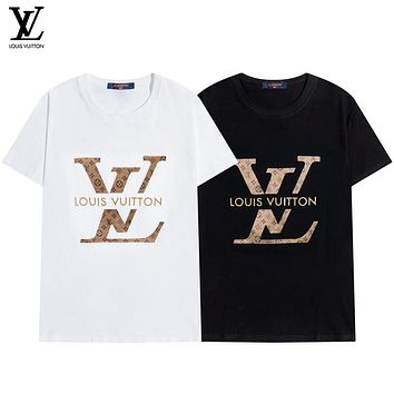 Louis Vuitton LV new style men's and women's tops 3D three-dimensional bumpy fold leather LV LOGO T-shirt
