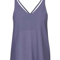Double Strap V-Front Cami - Topshop