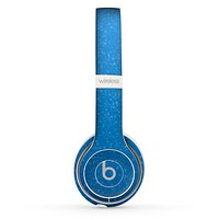 The Blue Subtle Speckles Skin Set for the Beats by Dre Solo 2 Wireless Headphones