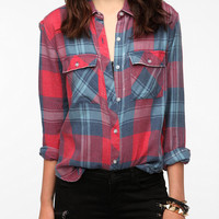 Urban Outfitters - byCORPUS Burnout Plaid Shirt