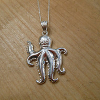 Sterling Silver Octopus Necklace   Candy's Cottage