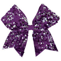 Chassé® Dangle Sequin Performance Hair Bow - Omni Cheer