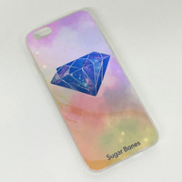 Pink Diamond Colorful Reflection Rubber creative case for iPhone 5s 6 6s creative case iPhone 6 6s Plus Gift-76
