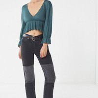 UO Blossom Peplum Cropped Top | Urban Outfitters