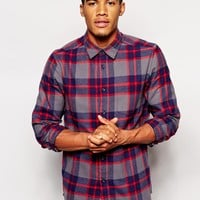 ASOS Shirt In Long Sleeve With Mid Scale Check