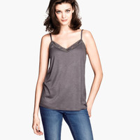 H&M Lace-trimmed Tank Top $9.95