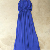 A Summer Staple Maxi in Royal [5193] - $36.00 : Vintage Inspired Clothing & Affordable Dresses, deloom   Modern. Vintage. Crafted.