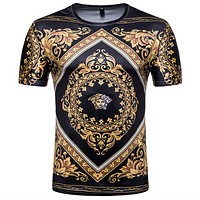 3D Versace Short Sleeves T Shirt Top Tee Blouse Unisex