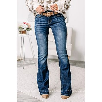 The Lizzie Mid Rise Flare Jeans