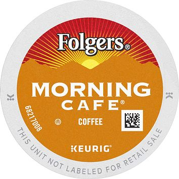 Folgers Morning Café Mild Roast Coffee, 96 K Cups for Keurig Coffee Makers