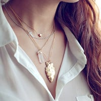 Retro Irregular Metal Necklace
