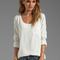 Soft Joie Wyoming Pocket Top in Porcelain from REVOLVEclothing.com
