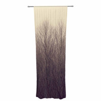 "Robin Dickinson ""Forest"" Beige Brown Decorative Sheer Curtain"