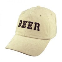 BEER Adjustable Baseball Cap (Stone)