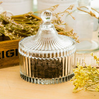 Crystal coffee bean sugar bowl