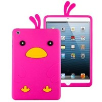 HHI Silicone Skin Case for iPad Mini & iPad Mini with Retina Display - Hot Pink Funky Duck (Package include a HandHelditems Sketch Stylus Pen)