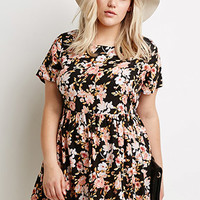 Floral Print Babydoll Dress