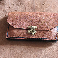 Brown Leather Wallets - Mens Wallet - Womens Bag Purses Wallet - Handmade Gifts ideas