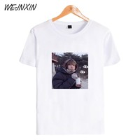 WEJNXIN Kpop BTS T-shirt Women Men Bangtan Boys Fans V Photo Print T Shirt Fashion Lovely  O-Neck Cotton Short Sleeve Camisetas