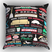 Friends TV Show Zippered Pillows  Covers 16x16, 18x18, 20x20 Inches