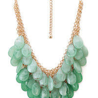 FOREVER 21 Ombre Teardrop Necklace