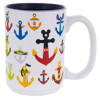 Disney Parks Mickey & Friends Character Anchors Coffee Mug New