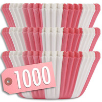 Pink Circus Stripe Baking Cups 1000