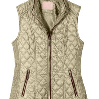 LE3NO Womens Lightweight Quilted Zip Up Puffer Jacket Vest with Pockets