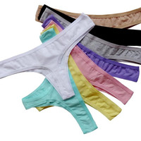 6pcs/lot Women's Underwear, G-string Thongs Panties