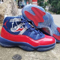 Air Jordan 11 Red/Navy Champion Bulls