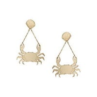 Crab Chain Drop Earrings by Patricia Nicolás for Topshop - Gold