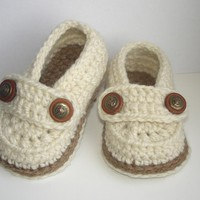 Baby Loafers, Baby booties crochet n.107 by Beatifico - Craftsy