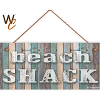 "Beach Shack Sign, Beach Weathered Wood, 6""x14"", Rustic Signs, Housewarming Gift, Beach House Sign, Tiki Party Decor, Made to Order"