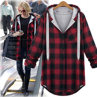 Women's Trending Popular Fashion 2016 Extra Plus Size Long Long Sleeve Plaid Outerwear Jacket Shirt Blouse Top Casual Party Playsuit Clubwear Bodycon Boho Top Shrit T-Shirt Casual Simple Hip-hop Weekend Curved Peak Trucker Baseball Cap Hat _ 5342