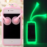 Pink Shiny Cartoon Cricket Soft Hard Cover Case For Iphone 5