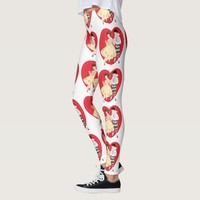 Vintage Valentine's Day, Cute Girl with Harlequin Leggings