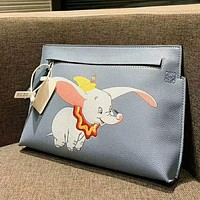 LOEWE Hot Sale Woman Lovely Dumbo Envelope Clutch Bag Leather Tote Handbag