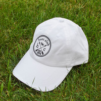 White Embroidered Cap from Hunt Club