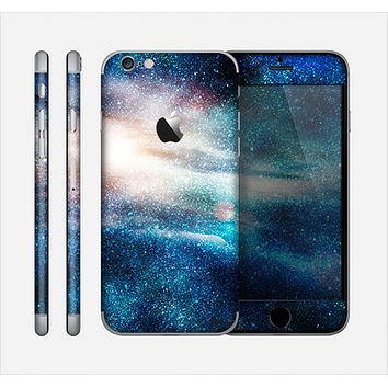 The Blue & Gold Glowing Star-Wave Skin for the Apple iPhone 6