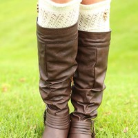 Right On Point-elle Boot Socks in Taupe